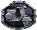 Vespa Scooter Belt Buckle with display stand. Code SL3